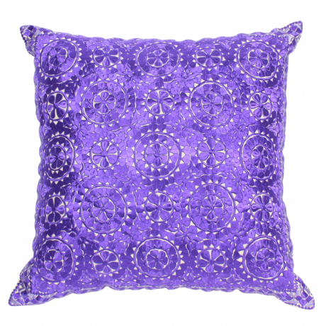 Moroccan Cushion Pillow Silk Square Purple Rabat Embroidery 60 x 60 cm 23.6 x 23.6'' CR7